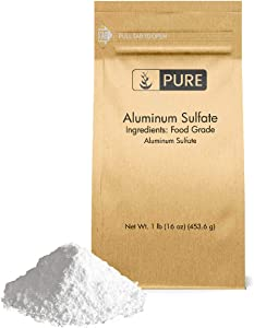 Pure Aluminum Sulfate (1 lb.), Pure Dry Alum, Soil Acidifier, Hide Tanner, Water Treatment (Also Available in 4 oz & 2 lb)