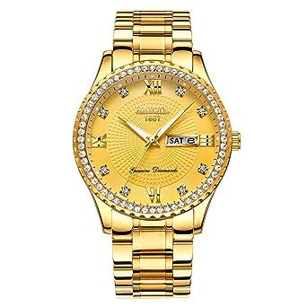 Amazon.com: Reloj de cuarzo para hombre, de lujo, clásico ...