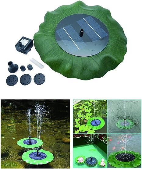Solar Pond Fountain Pump-MASO 7V 1.4W Solar Panel Powered Water Pump for Garden Pool Pond Aquarium Fountain