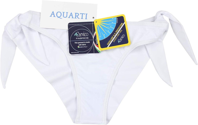 Aquarti Damen Tanga Bikinihose Seitlich Gebunden Brasilian
