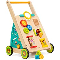 cossy Wooden Baby Learning Walker Toddler Toys for 18 Months (Updated Version)