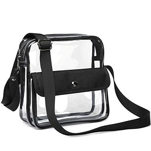 f9afb26873c32 Clear Purse, F-color Concert Stadium Approved Clear Bag, BTS, NFL, NCAA  Approved Crossbody Bag for Women Men