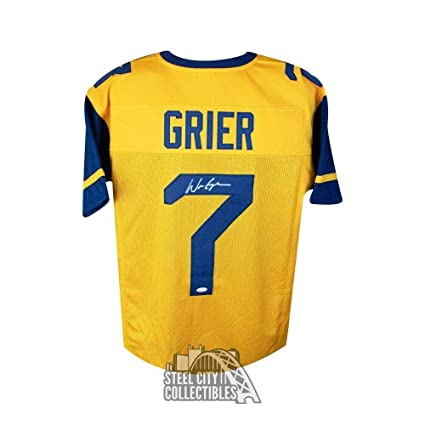 new styles 138fe fcdce Signed Will Grier Jersey - West Virginia Custom Gold ...