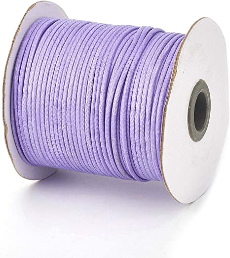 Violet Round Waxed Cotton Cord 1.5mm 100 meters