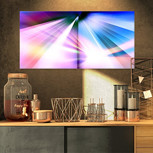 Rays of Speed Blue Abstract on Canvas Art Wall Photgraphy Artwork Print