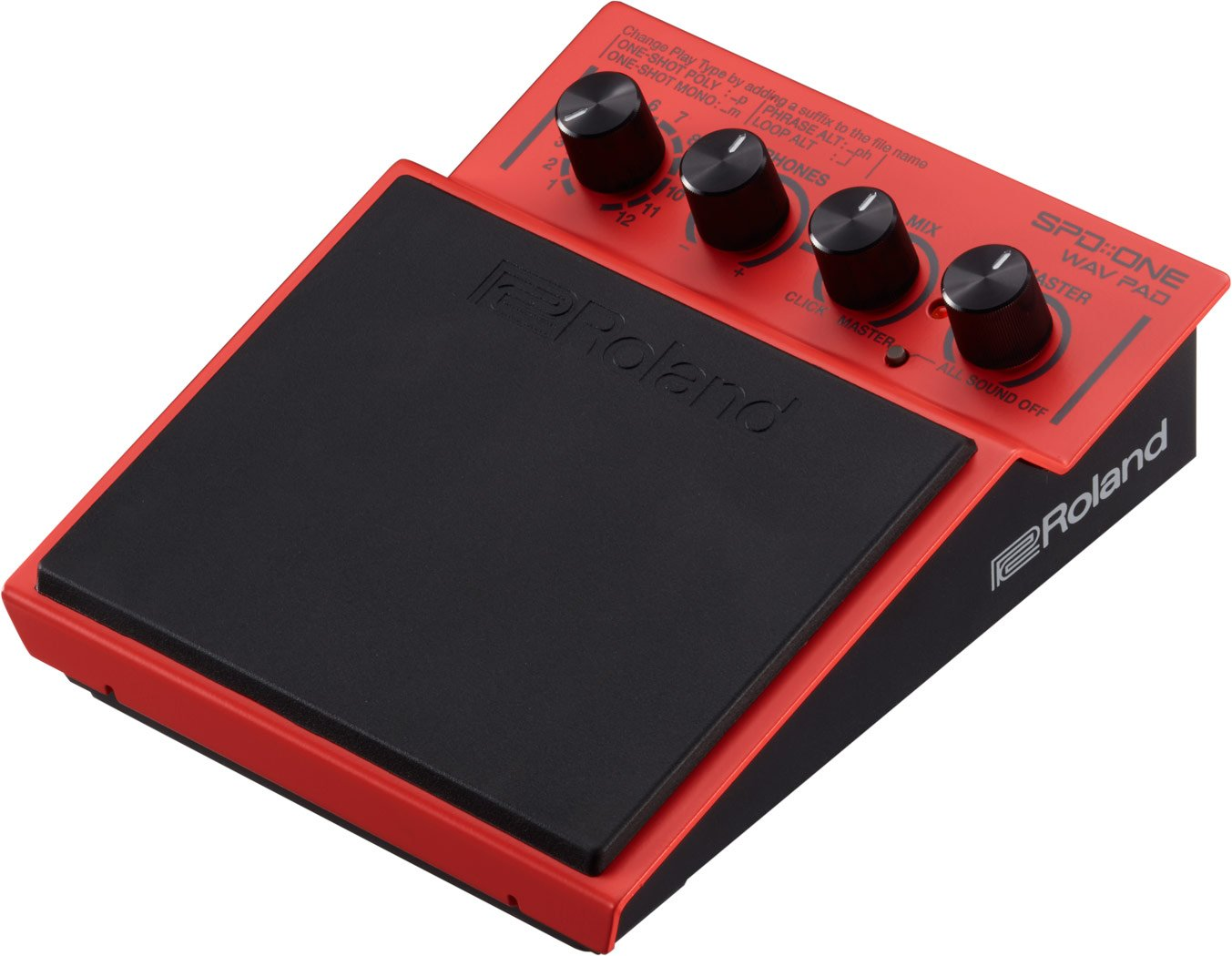 Roland Percussion Electronic Drum Pad, WAV, Red (SPD-1W) by Roland