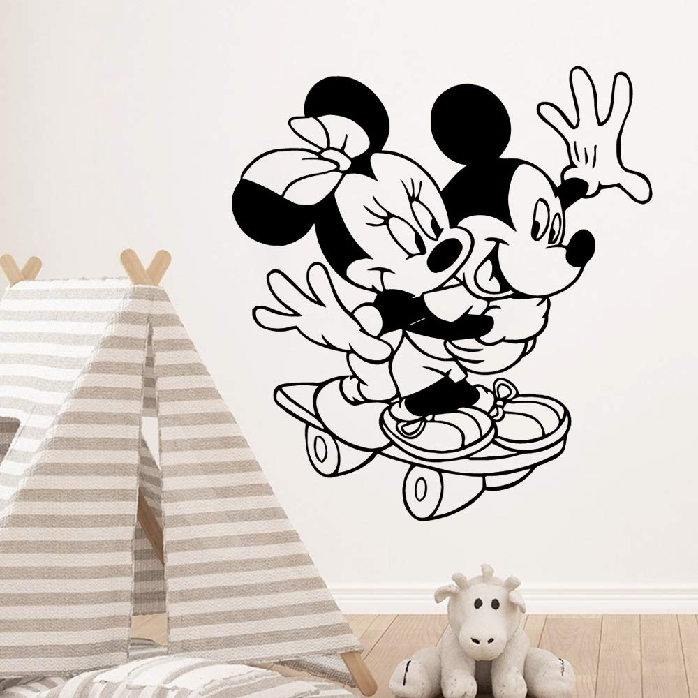 Mickey Minnie Mouse Wall Art Decal Sticker extraíble Mickey Mouse ...