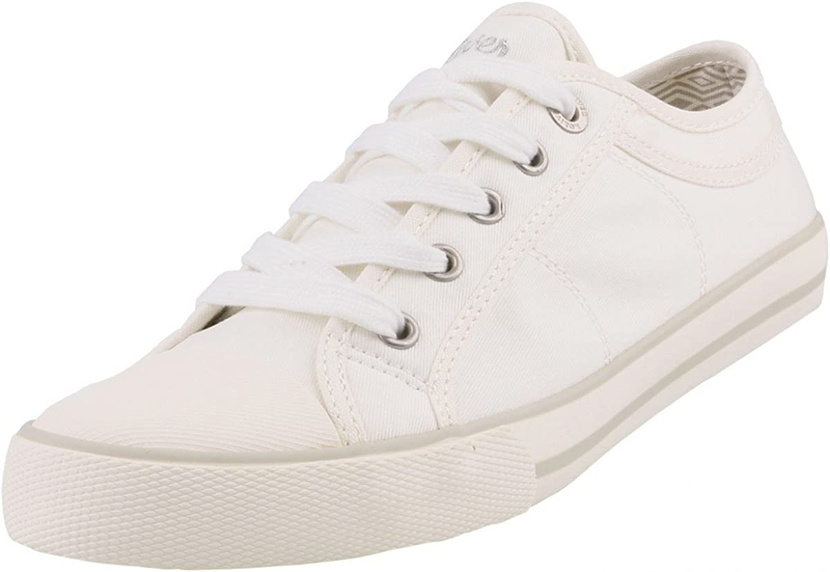s. Oliver Women's Canvas Shoes White