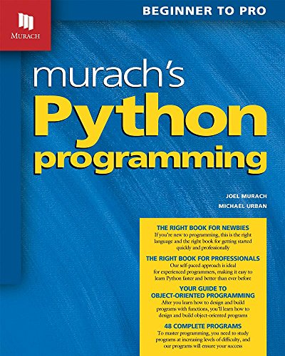 Book cover of Murach's Python Programming by Michael Urban