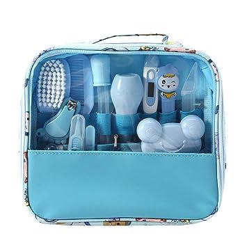 MIsha Neceser de Aseo de Bebé, 13 Unids/Set Kit higiene bebe Neceser aseo para tu bebé, Kit de cuidado de bebé portátil bebes regalos originales ...