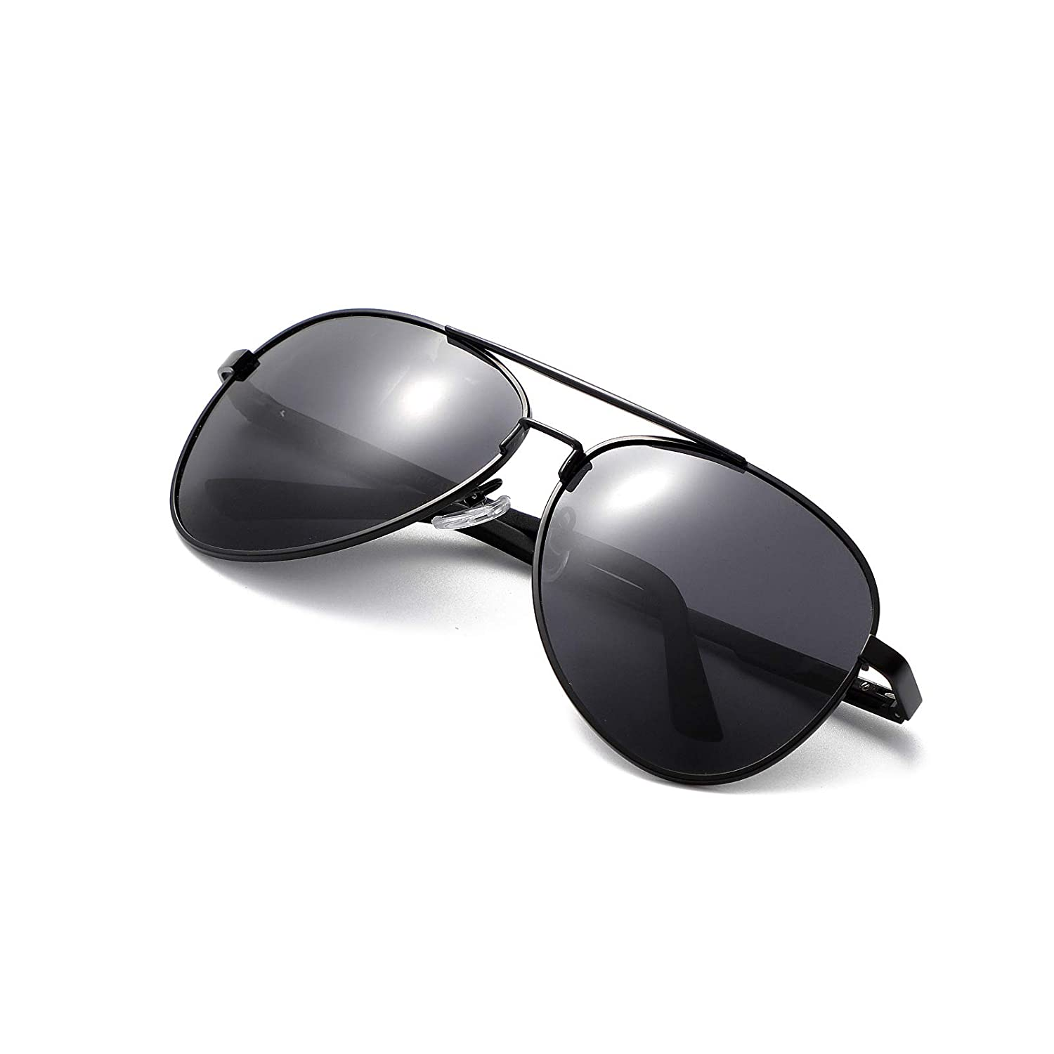 Blackgrey Aviator Polarized Sunglasses for Men Women  UV400 Mirrored Glasses Shades 60mm