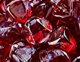 "1"" Diamond Shaped Fire Glass for Indoor or Outdoor Fire Pit or Fireplace 10 Pounds (Ruby) offers"