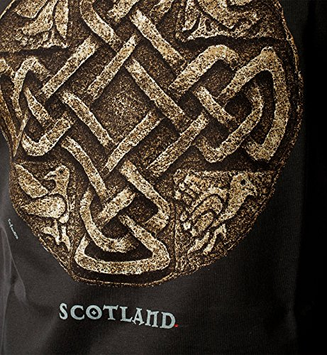 Mens T-Shirt Top Scotland Scottish Celtic Symbol Logo Dark Green