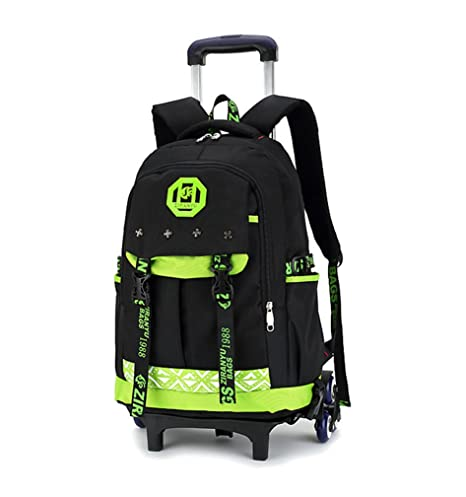 43c56c997a Kids Rolling Backpacks phaedra fu Trolley School Bags Backpack with 6  Wheels Climbing Stairs (Green)  Amazon.in  Toys   Games
