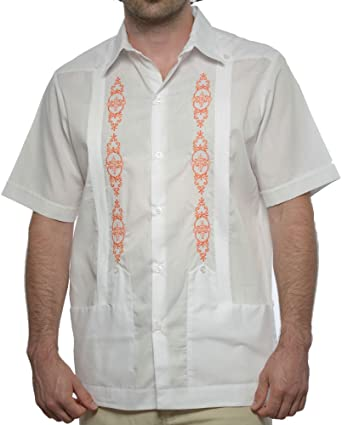 DAccord Camisa de Boda Mexicana de Manga Corta para Hombre, Guayabera