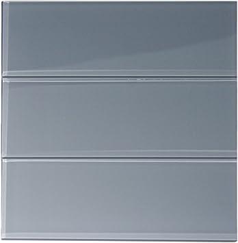 White Glass 4 x 12 Subway Tile 1 sq.ft. Three 4 x 12 Tiles