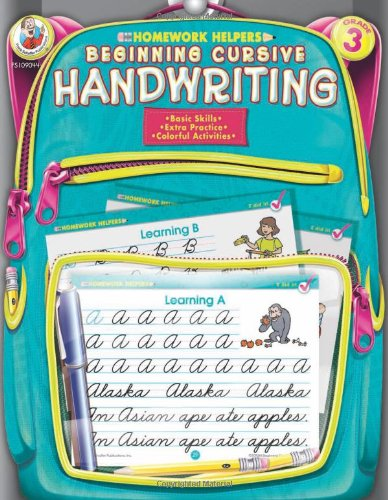 Beginning Cursive Handwriting, Grade 3 (Homework (Writing Helpers)