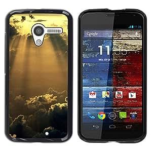 EJOY---Cubierta de la caja de protección la piel dura para el / Motorola Moto X 1 1st GEN I / --Sunshine Nubes Glow