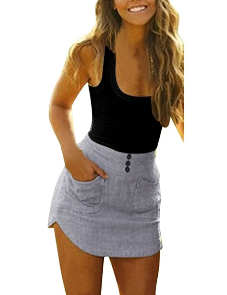 CRAVOG Vestido para Mujer Bodycon Falda de Playa Mini Fiesta Noche Patchwork Dress Verano Vestir (