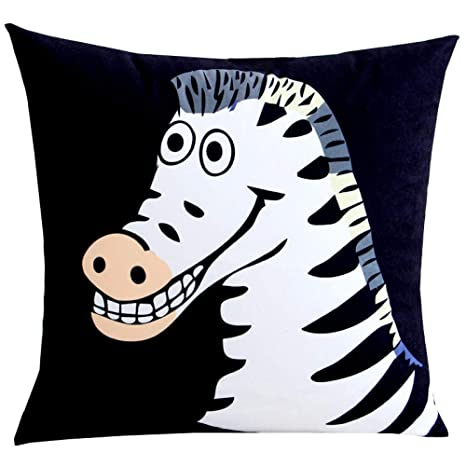 WDDGPZBZ Almohada Blanco y Negro Zebra Abrazo Almohada cojín ...