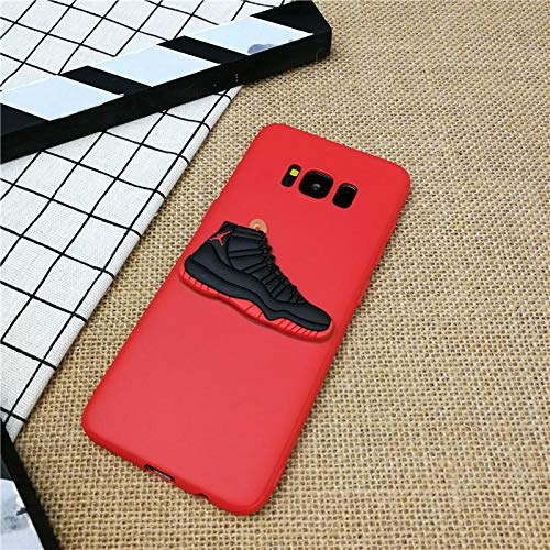 1 piece 3D AIR Jordan 11 Shoes phone cover case for Samsung galaxy S6 S7 edge s8 s9 plus note 8 9 matte soft silicone coque funda capa