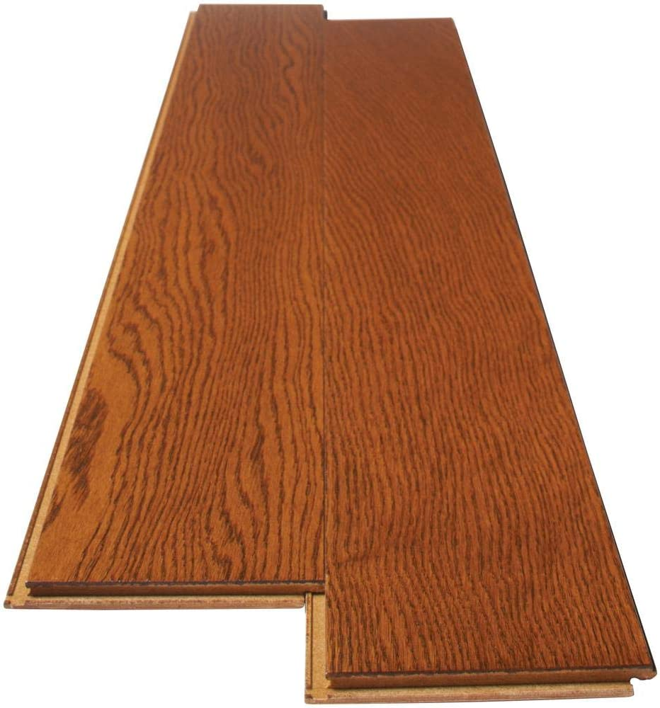 Gunstock Oak 3 8 In Thick X 5 In Wide X Varying Length Click Lock Hardwood Flooring 19 686 Sq Ft Case Amazon Com