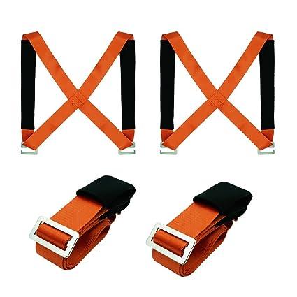 Levantamiento Moving correas llevar cinturón TGY Max carga 350 libra fácil llevar de los muebles,