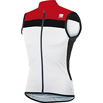 1c21081ec1ff9e Sportful Pista Sleeveless Jersey - White Red Black - XXL  Amazon.co ...