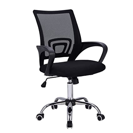 half off 0b011 c0b21 Giantex Mid-Back Mesh Office Chair Adjustable Ergonomic Chair W/Lumbar  Support and Breathable Cushioned Seat for Home Office Use, Computer Desk  Task ...