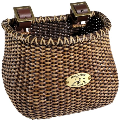 (Nantucket Bicycle Basket Co. Lightship Collection Children's Bicycle Basket, Classic/Tapered, Stained)