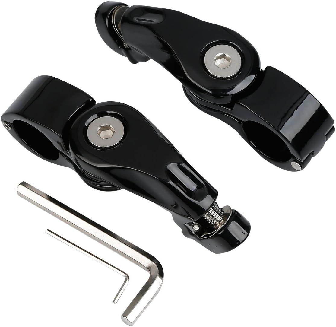 XFMT 1-1//4 32mm 1.25 Short Angled Adjustable Highway Peg Mount Kit Compatible with Harley
