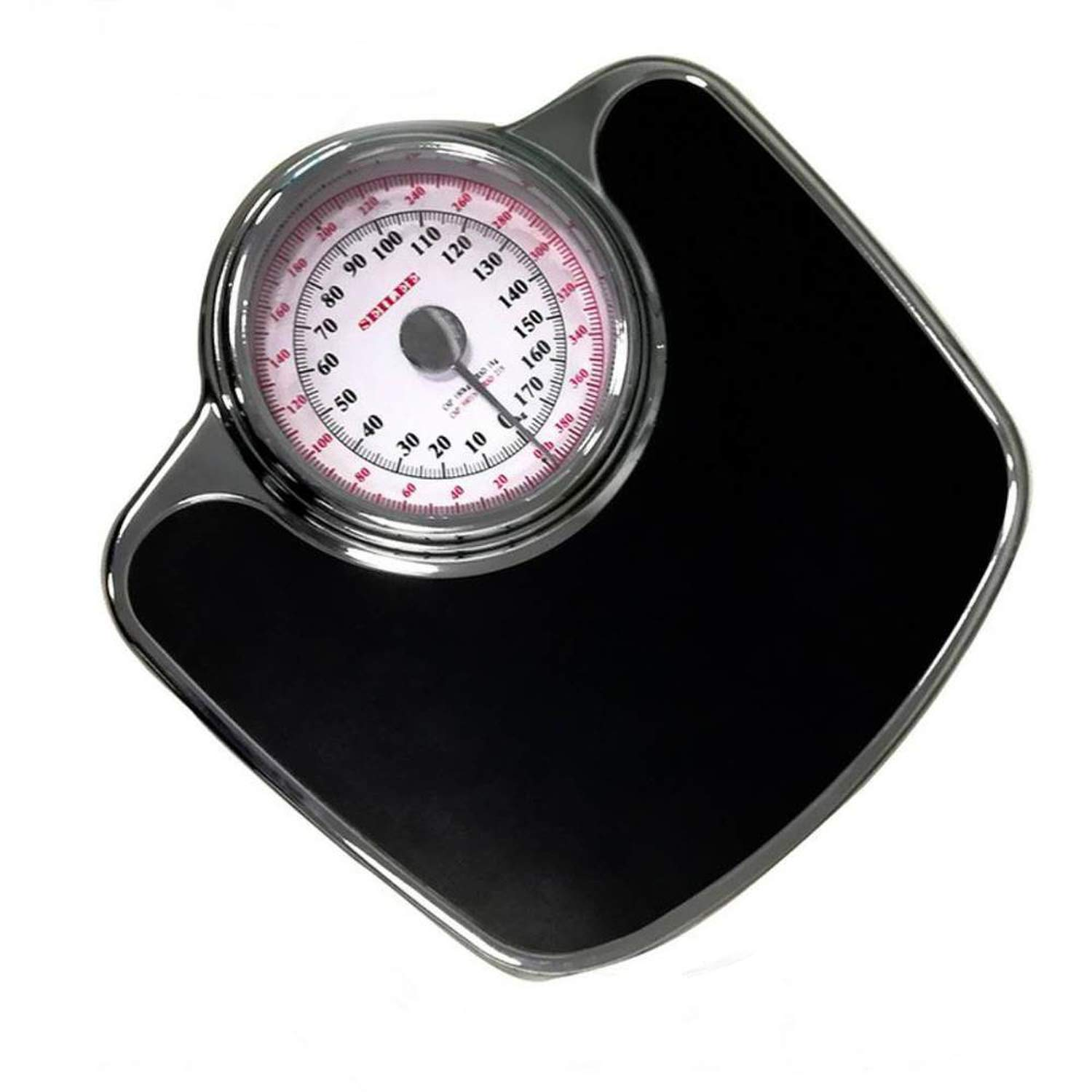 Bathroom Scales New Hotel Hotel Room Pointer Human Scale Mechanical Bathroom Scale Human Health Scale 3,Black