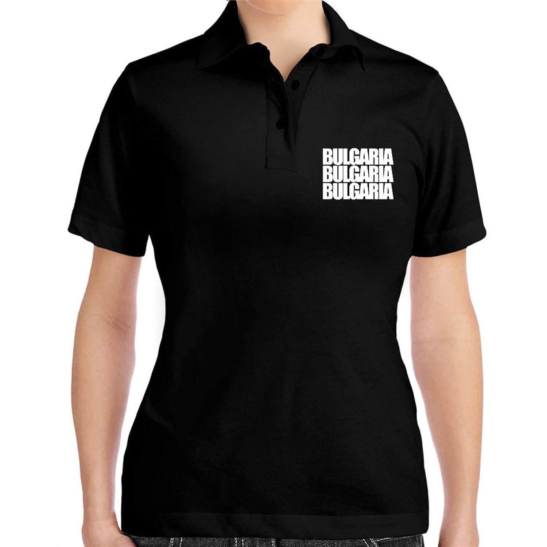 Bulgaria three words Women Polo Shirt