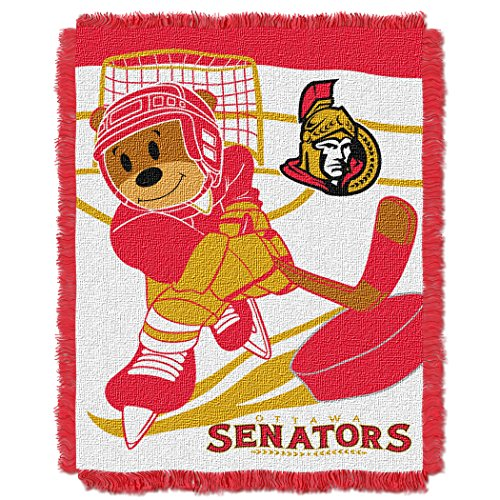 The Northwest Company Officially Licensed NHL Ottawa Senators Score Woven Jacquard Baby Throw Blanket, 36