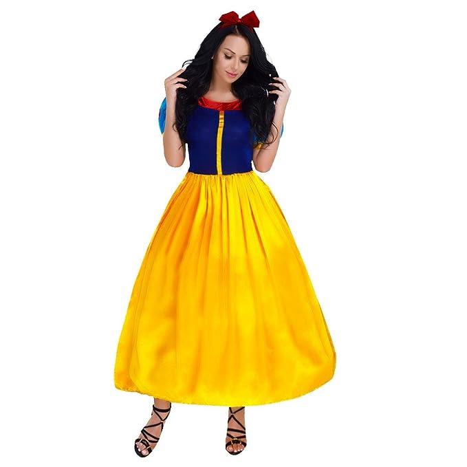 ... Disfraz de Princesa para Mujer Vestido Largo de Fiesta con Diadema o  Crinolina Capa Carnaval Cosplay Traje de Ceremonia  Amazon.es  Ropa y  accesorios 495ca3f3793