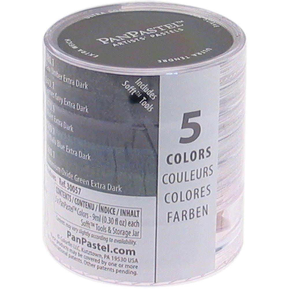 Armadillo Art & Craft PanPastel 9-Milliliter Ultra Soft Artist Pastel Set, Earthtones, 5-Pack PPSTL5-30058