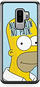 Samsung Galaxy S9 Plus Transparent Edge Phone Case Simpson Phone Case No Brain Samsung S9 Plus Cover with see through edges