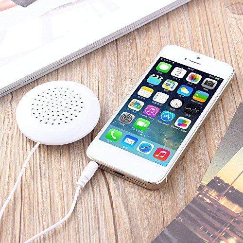 TOOGOO Mini White 3 5mm Pillow Speaker for iPhone iPod CD Radio MP3 Player GL by TOOGOO (Image #1)
