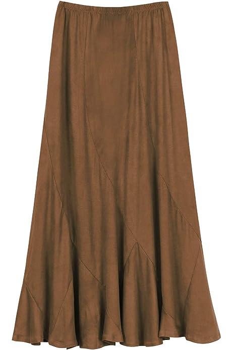 Long Maxi Plus Size Slinky Skirt