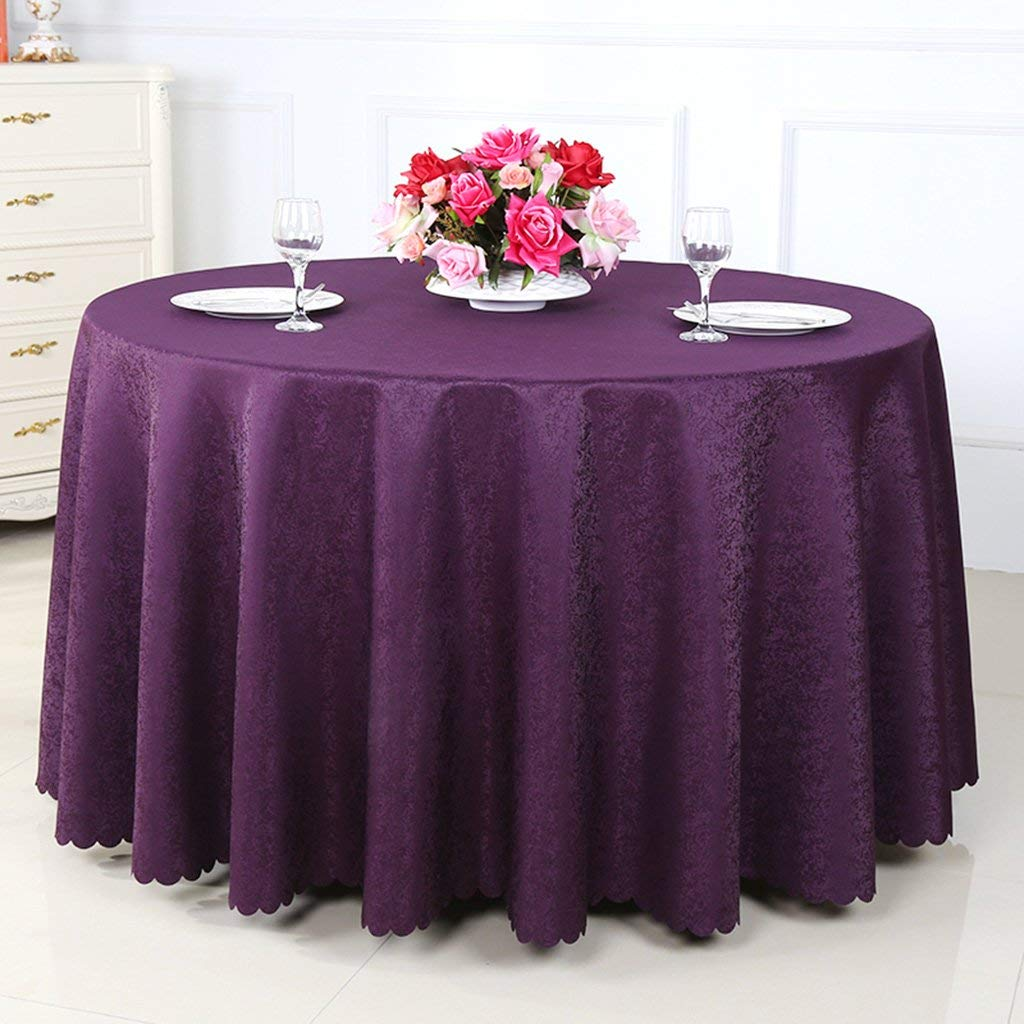 BOSSLV Kitchen Dinning Tabletop Tablecloth Table Cover Hotel Restaurant Round Tablecloth Pure Color Coffee Table Meeting Tablecloth Multi-Purpose Indoor and Outdoor, Round-320cm, 1 by BOSSLV (Image #1)