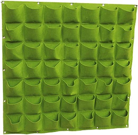 Panel con varios bolsillos para jardín vertical, montaje en pared, de fieltro, para plantas de interiores y exteriores, marca TEERFU: Amazon.es: Jardín