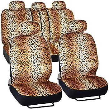 Amazon Com Bdk Quality Pro Seat Covers Leopard Print