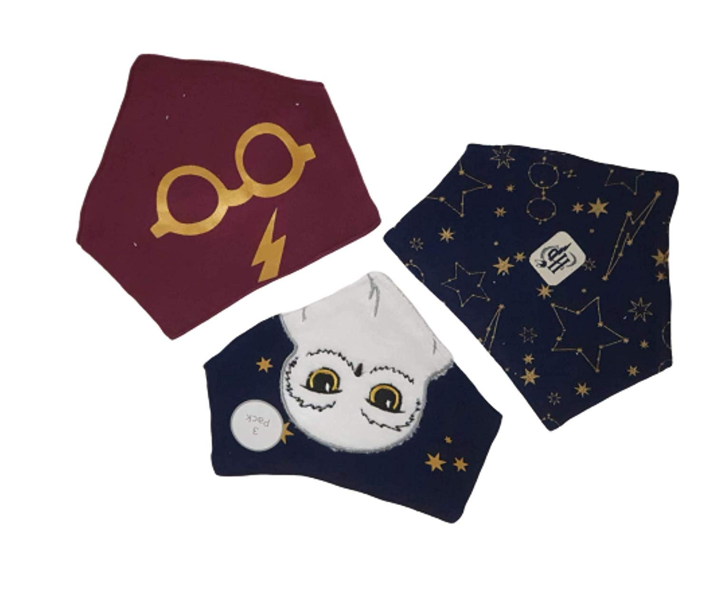 Hedwig 3 Pack bib Harry Potter Bandana Drool Dribble Bibs