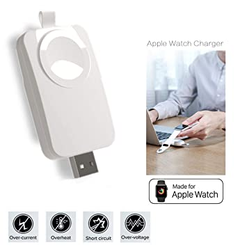 MASOMRUN Apple Watch Cargador Portatil,Cargador USB Portátil Compatible con Apple Watch/iWatch, Apple Watch Charger inalámbrico magnético Compatible ...