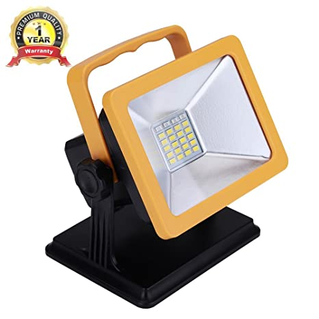 Rechargeable LED Work Light 15W 6.5H Lighting Battery Powered Waterproof  Spotlights Outdoor Camping Emergency Lights