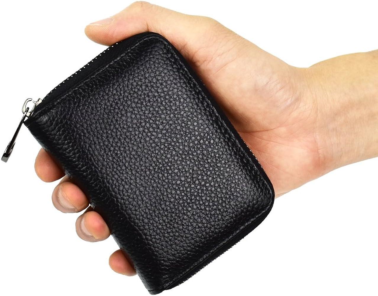 bac4beb36435 Lacheln RFID Blocking Credit Card Organizer Wallet Genuine Leather ...