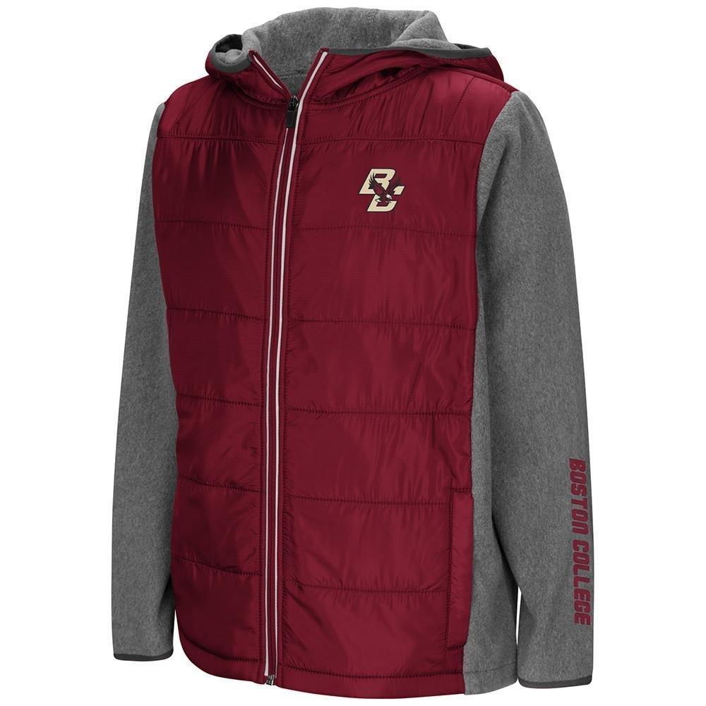 ユースBoston College Eagles Full Zipパフジャケット B07DWH6HM5  Small (8/10)