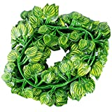 KAIL Fake Ivy Foliage Garland Leaves Decoration Hanging Vine Plant Home Garden Wall for Decor Indoor Outdoors, Watermelon Leaves