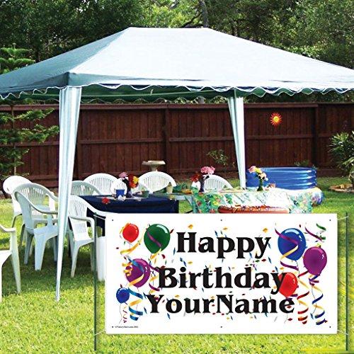 Custom Birthday Banner - Vinyl Happy Birthday Banner- Balloon Design -