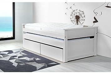 Abc Meubles Ausziehbett Mit Schubladen 90 X 200 Cm Holz Tirtop
